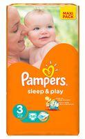 """Подгузники """"Pampers Sleep&Play Chamomile Midi"""" (4-9 кг, 58 шт, арт. 0001010709)"""