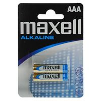 Батарейка AAA LR03 Maxell алкалайновая (2 штуки)