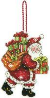 "Вышивка крестом ""Санта с мешком"" (82х114 мм)"
