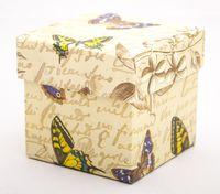 "Подарочная коробка ""Botanic and Butterflies"" (7,5х7,5х7,5 см)"