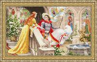 "Вышивка крестом ""Рыцарь на белом коне"" (320х535 мм)"