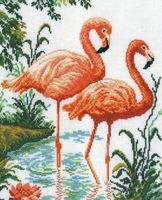 "Вышивка крестом ""Фламинго"""