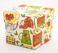 "Подарочная коробка ""Christmas Mugs"" (7,5х7,5х7,5 см)"