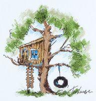 """Вышивка крестом """"Домик на дереве"""" (200х225 мм)"""