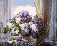 "Картина по номерам ""Сирень на окне"" (500х650 мм)"