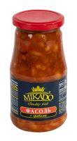 """Фасоль """"Mikado. С грибами"""" (500 мл)"""
